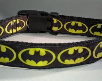 Batman Dog Collar - Bat Dog collar FREE Shipping