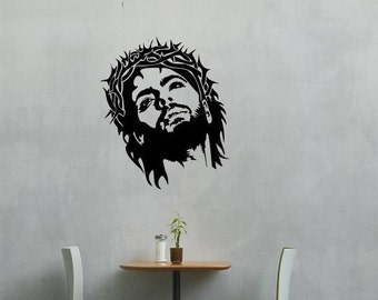 Jesus with thorns wall vinyl or sticker