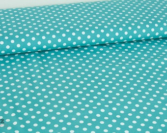 Jersey Verena turquoise - points - dotted - dots