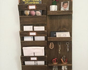 Large Mail Organizer and Key Holder