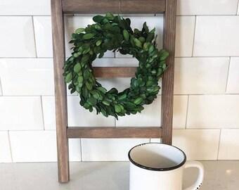 Mini Display Ladder - Tea Towel Ladder - Farmhouse Hand Towel Holder - Bathroom - Mini Wreath Display - Gallery Wall - Coffee Bar