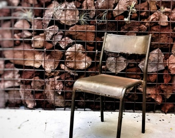Iron Chair with oxidized finish industrial style