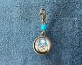 Matryoshka Russian Doll Cabochon Glass Progress Keeper Stitch Marker Knit Crochet zipper pull purse charm SPK417