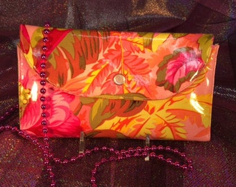 Bright Pink Flowers Fun Wallet