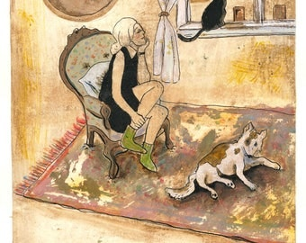 Magic moment - print of original illustration