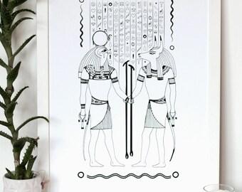Emoji hieroglyphs // Illustration // handdrawn // emoji // egyptian
