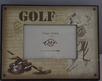 Golf Golfers Photo Frame Hole In One Picture Frame Golfing Frame Man Cave SG1208