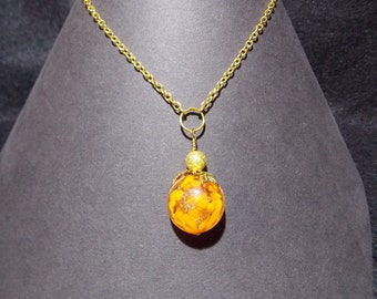 Necklace gold and orange