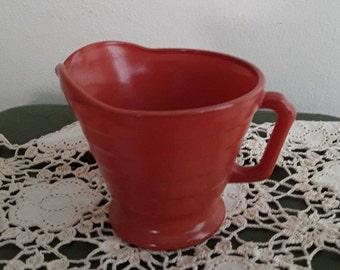 "3"" Burnt Orange Pyrex Mug"