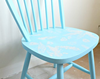 dining chair Painted Chairs,  Shabby Chic Chair~  Country Kitchen Vintage Chair
