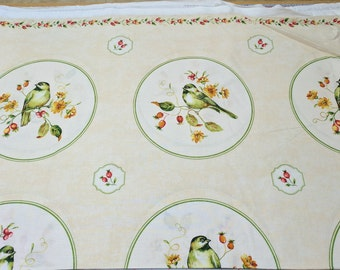 Give Thanks-Birds Cotton Fabric from Northcott