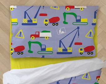 Construction Bedding - Truck Comforter - Baby Shower Gift - Boy Comforter - Crib Bedding - Toddler Comforter
