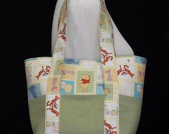 Winnie the Pooh Diaper Tote Bag, Diaper Bag Tote, Baby Shower Gift, Girl Diaper Bag, Boy Diaper Bag, Baby Diaper Bag, Small Diaper Bag, Baby