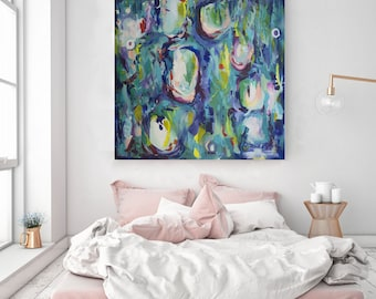 Large Abstract Art Print , Abstract Seascape, Giclee Print, Modern Art, Contemporary Art, Home Décor, Print from Original Large Oil Painting
