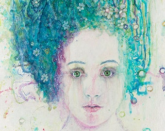 Sea Me - Hunt Illustration Carrie Hunt. Original  Watercolor Hand Painted Giclee Print