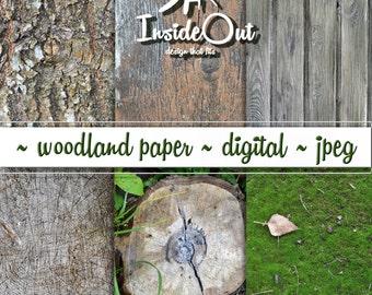 Woodland Backdrops Rustic Photo Background Texture Natural wood digital paper Moss Paper Stump Scrapbook stub Scrapbooking bark dark tree