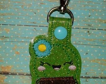 Happy Cactus in Pot Keychain