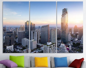 Bangkok Art Bangkok Wall Art Bangkok Wall Decor Bangkok Skyline Bangkok Print Bangkok Photo Bangkok Poster Bangkok Home Decor Bangkok Canvas