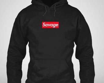 Savage Supreme Box Logo Hoodie - 21 Savage Supreme