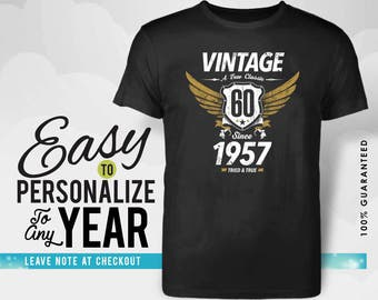 60th birthday, 60th birthday gifts for women, 60th birthday gift, 60th birthday tshirt ,1957 , 60th birthday gift for men, made in 1957