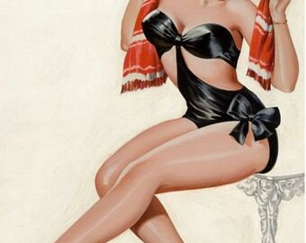 Vintage Pin Up Girl 166 Pinup Poster  A3 Print