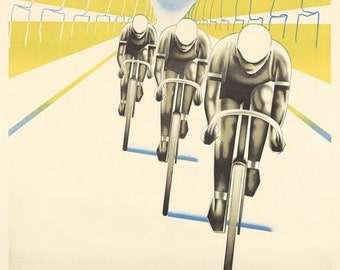 Vintage Paris Tour de France Cycling Poster A3 Print