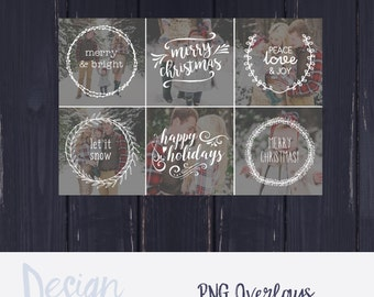 Photography Overlays |Photo Overlay | Christmas Photography | Holiday Mini Session Template | Christmas Mini Session Template  |PNG Format