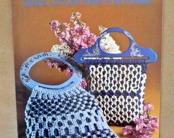Macramé Purse Patterns - Macramé Purse-N-Ality - Vintage Macramé Purse Designs - Macramé Disco Purse - Macramé Shoulder Bag - Macramé Belt