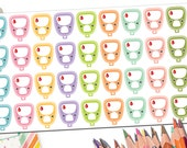 Glucose Meter Stickers | Glucometer Stickers | Blood Sugar Glucose Monitor Reminder Planner Stickers | Diabetic Meter Fits Erin Condren More