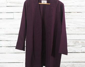 Vintage bohemian cardigan | Long cardigan | Women cardigan | Embroidery