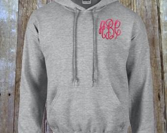 Monogrammed Hooded Sweatshirt, Pullover Hoodie, Monogrammed Hoodie, Personalized Hooded Sweatshirt, Monogram Sweatshirt, Monogrammed