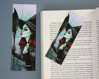 Bookmark Art drawing print, the wicked witch of West Oz zelena, Wizard of oz