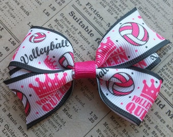 Volleyball Hair Bow, girls hair bow, party favors, stocking stuffers