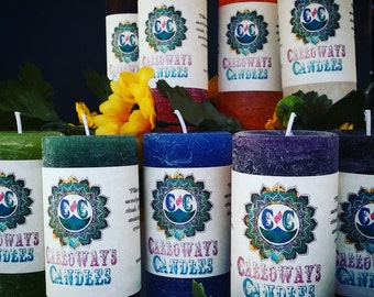Pillar Candles, 5 Sizes, 16 Colors, Essential Oil Candles
