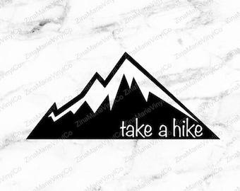 Take A Hike Decal - Hiking Car Decal - Camping Vinyl Decal