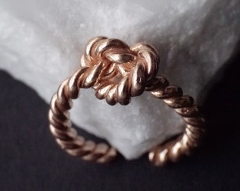 Twist Rope Ring-LOVE Ring , Gold plated Silver Ring, Open ring