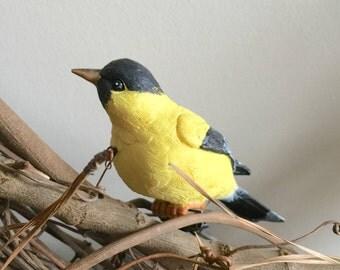 2Pk Goldfinch, Clip On Bird Decorations, Wreath Decoration, Bird Cage Decoration, Birdhouse decoration