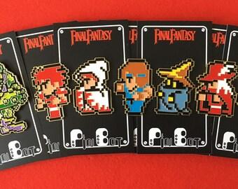 8-Bit Enamel Pin Set - Final Fantasy 7 pin set - Lapel Pin - Hat Pin