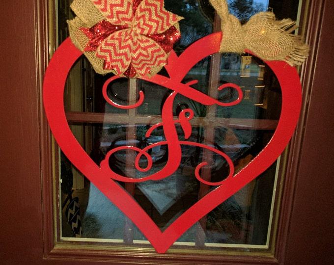 Valentines Day Door Hanger, Heart Sign, Wedding Decor, Valentines Day Decor, Heart Door Wreath, Valentines Day Gift, Heart Sign Guest Book