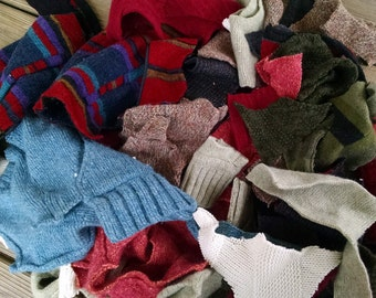 Wool Sweater Scraps For Crafting