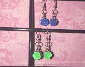 A Pair of Rose Earrings