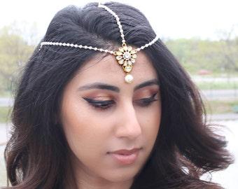 Kundan Tikka Matha Headpiece Tikka Jewelry Indian Jewelry