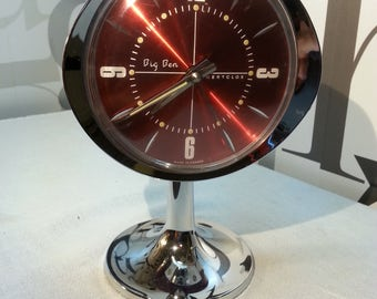 Vintage Big Ben WestClox  Repeater Sculptura Alarm Clock      FREE SHIPPING
