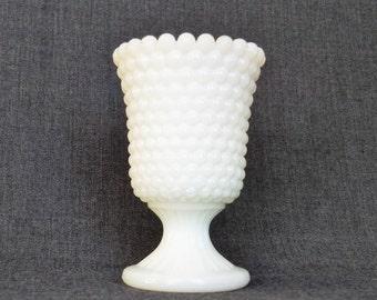 Vintage Milk Glass Candy Cup, Hobnail