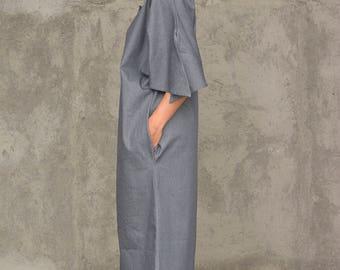 Long Denim Dress Kaftan | Oversize Denim Caftan Dress | Handmade Long Maxi Casual Bohemian Kaftan Loose Fitting Denim Dress | FREE SHIPPING
