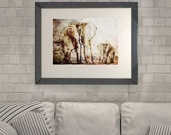 Elephant Decor Elephant Poster Elephant Art Elephant Wall Art Elephant Instant Download Home Decor Elephant Nursery Elephant Wall Decor