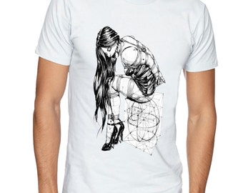 BDSM Submissive Girl, Rope bunnie, Kinky t-shirt, Fetish t shirt, BDSM tshirt. Kinky tee, fetish tee, apparel clothing by FET.tees.