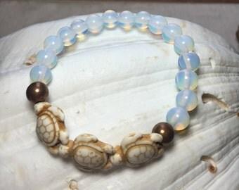 Opal turtle bracelet