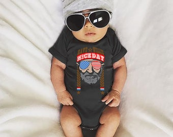 Have A Willie Nice Day America Baby Bodysuit