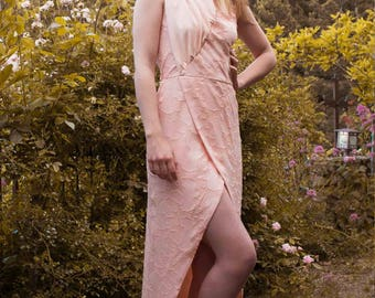 Lily: Asymmetrical dress with drape
